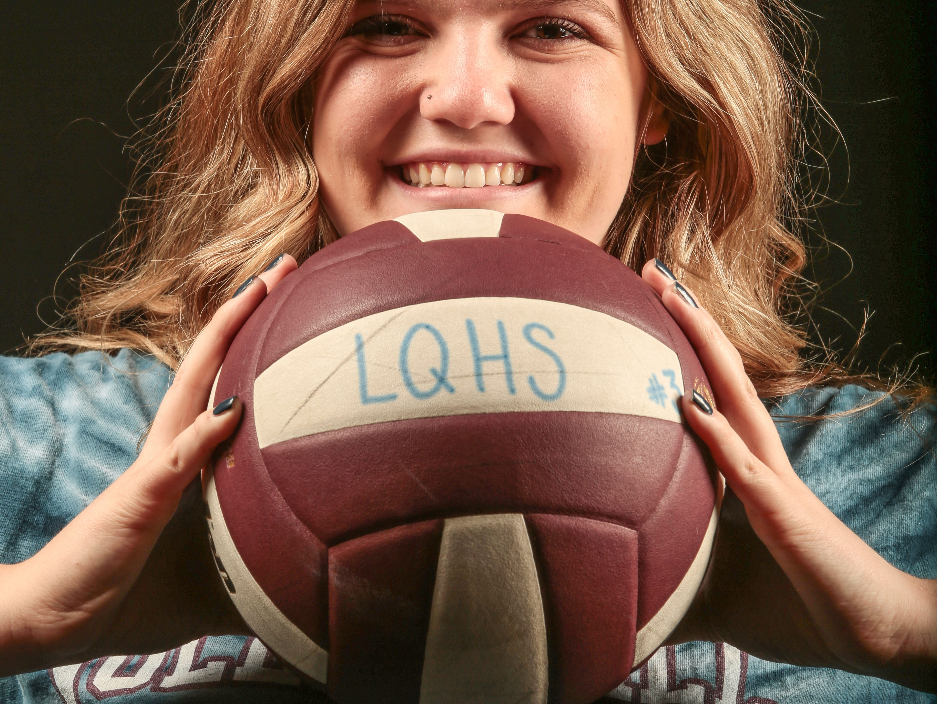 Jolie Samuelson La Quinta High volleyball player on December 8, 2016 at the Desert Sun in Palm Springs.