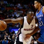 Dwyane Wade (3) scored a game-high 28 points for the