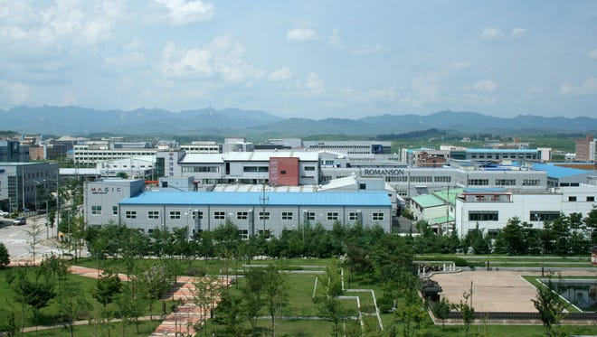 An undated file picture released on Dec. 6 2011 shows a general view of the Kaesong Industrial Complex in the North Korean border town of Kaesong.