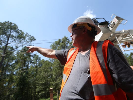Paul Bailey, a line crew foreman for the city of Tallahassee