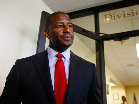 Tallahassee mayor Andrew Gillum completes his qualification