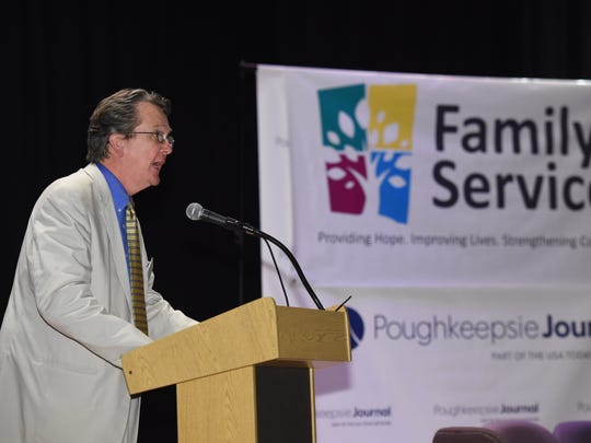 Brian Doyle, CEO of Family Services speaks at the Family Partnership Center in this file photo.