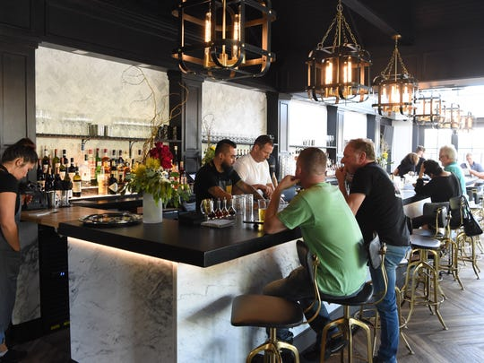 A view of the bar at Heritage Food & Drink in Wappingers