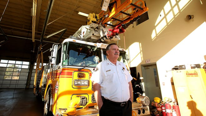 Bremerton Fire Chief Al Duke at Station 1 on Park Ave. in Bremerton on Monday, Jan. 23, 2017.