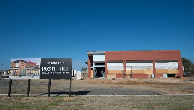 View of the construction of Iron Hill Brewery & Restaurant in Rehoboth Beach.