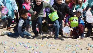 Photos: Easter egg hunt on the beach for all ages at Dewey