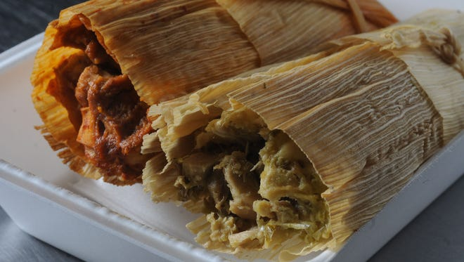 Masa is made from scratch for tamales at The Tamale Place, 5226 Rockville Road, Indianapolis.