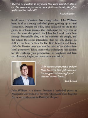 """Marshfield native John Willkom chronicaled his interesting basketball journey in a best-selling book book on Amazon titled """"Walk-On Warrior"""""""