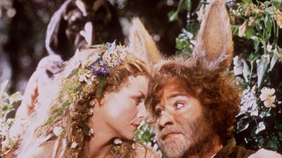"""Kevin Kline, shown here with Michelle Pfeiffer in """"A Midsummer Night's Dream,"""" stole """"A Fish Called Wanda"""" without even wearing big ears"""