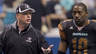 Rattlers DB Marquis Floyd had two interceptions the last time the Rattlers played the  Kiss.