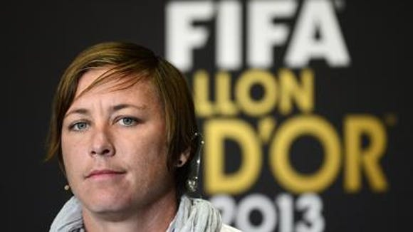 Abby Wambach starts this year as the world's all-time leading scorer with 163 goals.