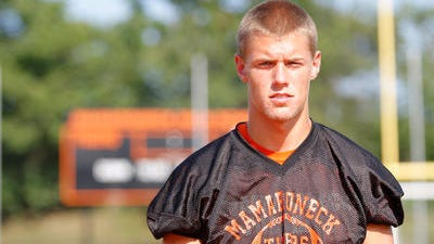 Mamaroneck wide receiver/safety Alex Parkinson is one of the area's most coveted senior recruits for college football, drawing eight offers.