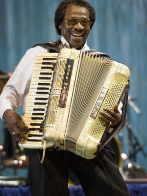 David SimpsonStanley Dural Jr., leader of Buckwheat Zydeco, joins Steve Riley and Lil Buck Sinegal for a Louisiana Jam May 15 at Music & Market in Opelousas.