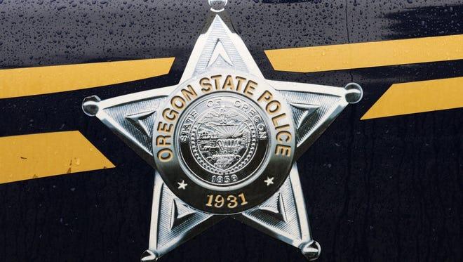 The Oregon State Police emblem.