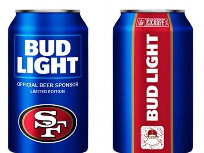 2018 nfl bud light cans 28 teams have special beer cans for season