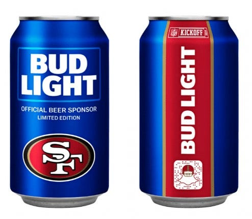 Bud Light Has Unveiled NFL Team Cans For 28 Teams For Gallery