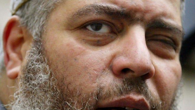 Egyptian Islamic cleric Mustafa Kamel Mustafa, shown in a 2006 photo,  was found guilty Monday in federal court in Manhattan on charges of aiding terrorist organizations.