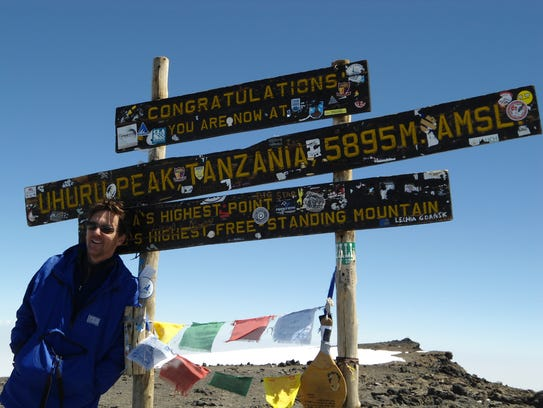 Andrew McCarthy atop  Kilimanjaro. He is guest editor
