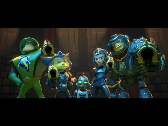 The heroes of 'Ratchet & Clank': Captain Qwark (voiced