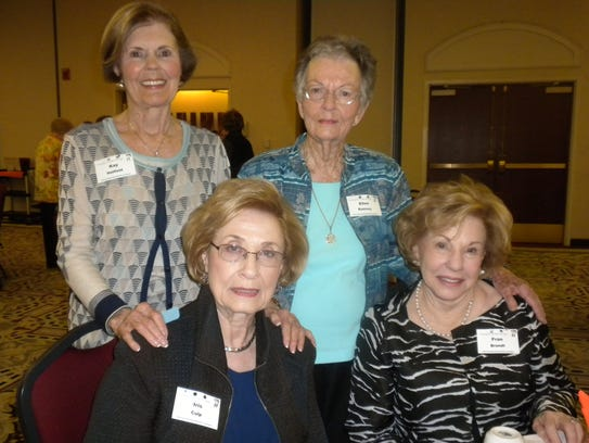 Sitting: Iris Culp and Fran Brandt. Standing: Kay Hatfield
