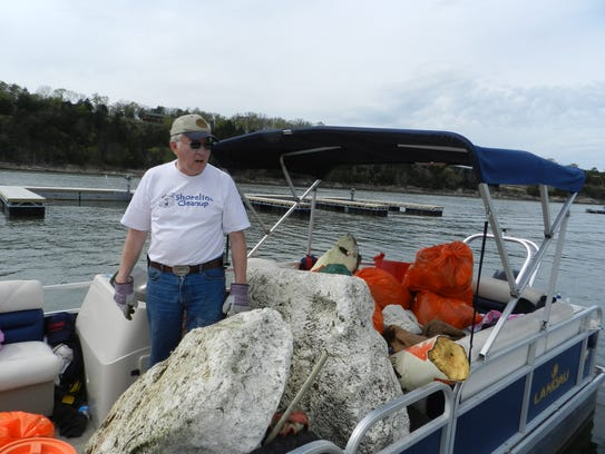 Chunks of Styrofoam from damaged boat docks are becoming