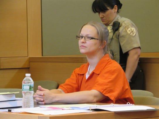 Angelika Graswald sits in Orange County Court Tuesday