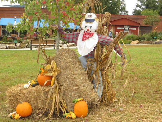 The scarecrow designed by Mrs. Patricia Berzinski's