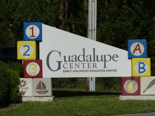 A sign outside the Guadalupe Center in Immokalee.