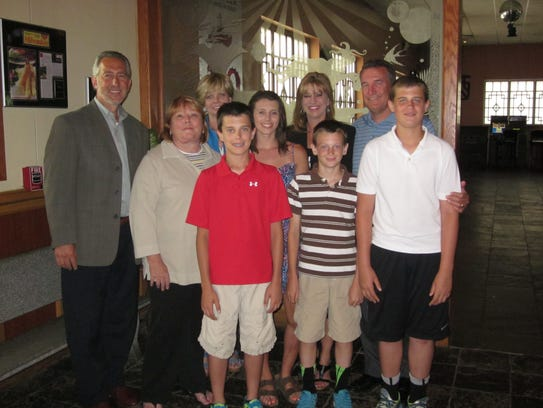 The Oberst family at Asiana Restaurant in Pewaukee