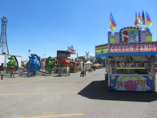 The Mighty Thomas Carnival midway is ready to go on