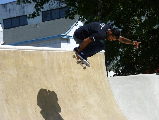 Jeremy Picado, a local Plainfield skateboarder, doing