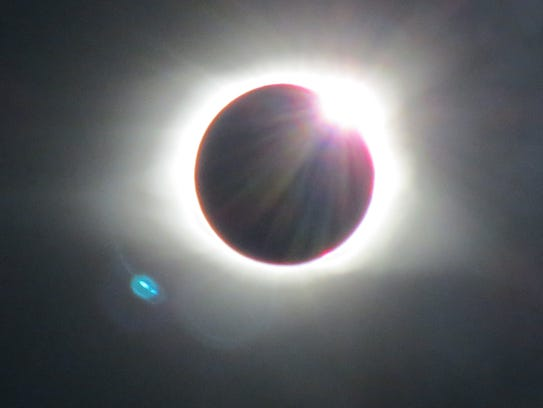 The 2017 solar eclipse is photographed in Maryville,