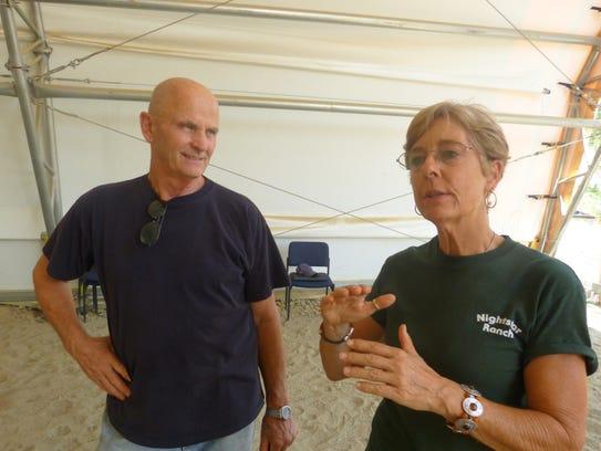 Bruce Riecke of Red Bluff and Joni Maggini of Cottonwood