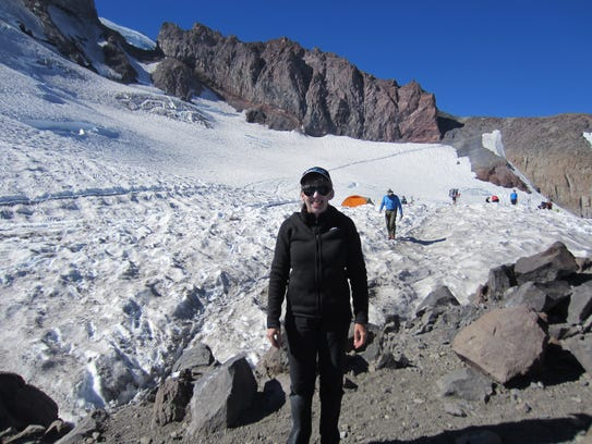Laurie McClary successfully climbed Mount Rainier in