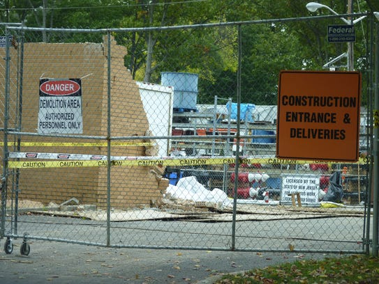 The construction site at the New Jersey American Water