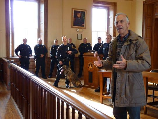 Flemington Mayor Phil Greiner at Jax's swearing in