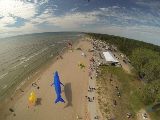A photo of Kites Over Lake Michigan in Two Rivers features