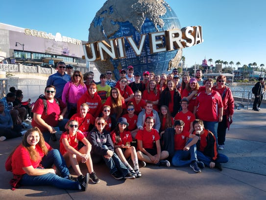 While in Florida to participate in the Florida Citrus Parade, the Westmoreland Marching Eagles visited the Universal Studios.