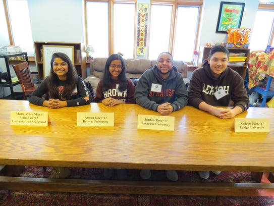 This year's panel included, from left: Manasvinee Mayil