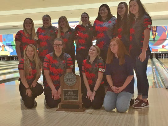 The Creek Wood High girls bowling team finished state