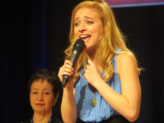 """Christy Altomare performs during """"Journey to the Island:"""