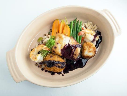 The Coastal Pan Roast offers a taste of roasted Gulf