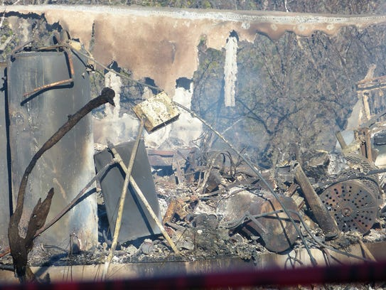 What was once a barn was nothing more that a smoldering