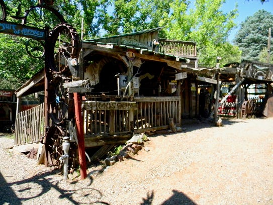 Tinkertown's Buzzard's Gulch, where Western items are