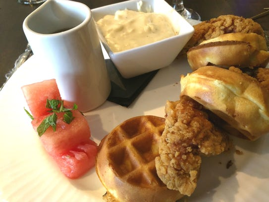 The Wave Kitchen and Bar's fried chicken and waffles