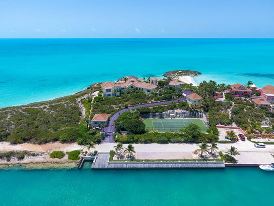 Another aerial view of Turtle Tail, the Prince villa