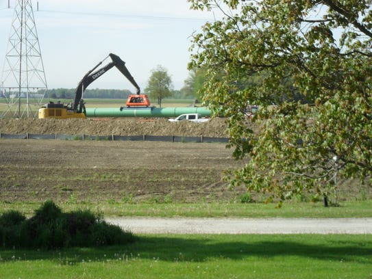 View of pipeline work at Schimpf Farm.