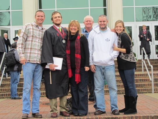 At graduation day, at the University of Alabama, pictured