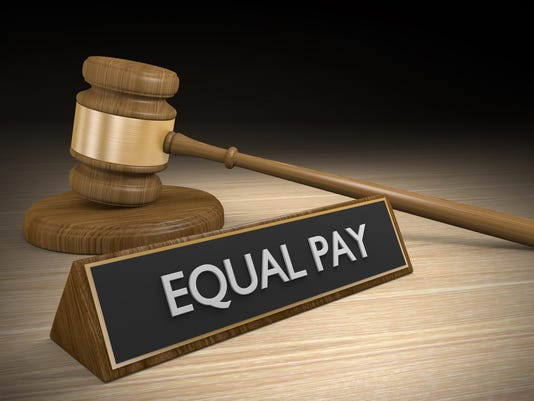 Legal concept of equal pay for equal work for women