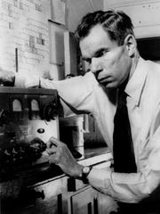 Dr. Glenn Seaborg, who won the Nobel Prize in chemistry in 1951, is shown in this Feb. 17, 1941, photo from the Berkeley campus of the University of California.
